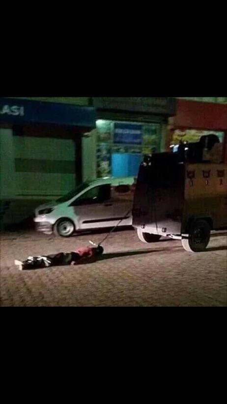 Photo of the Turkish savagery