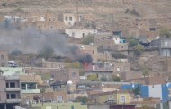 Turkish helicopter shells a neighborhood in Derik