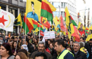 Thousands of Kurds protest in Germany against Turkey's military crackdown on Kurds in Southeast of Turkey