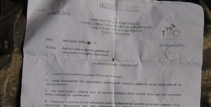 Turkish document of massacre: Our state is in a difficult period