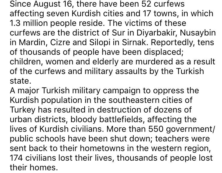 CURFEWS in TURKEY BETWEEN 16 AUGUST 2015 – 12 DECEMBER 2015