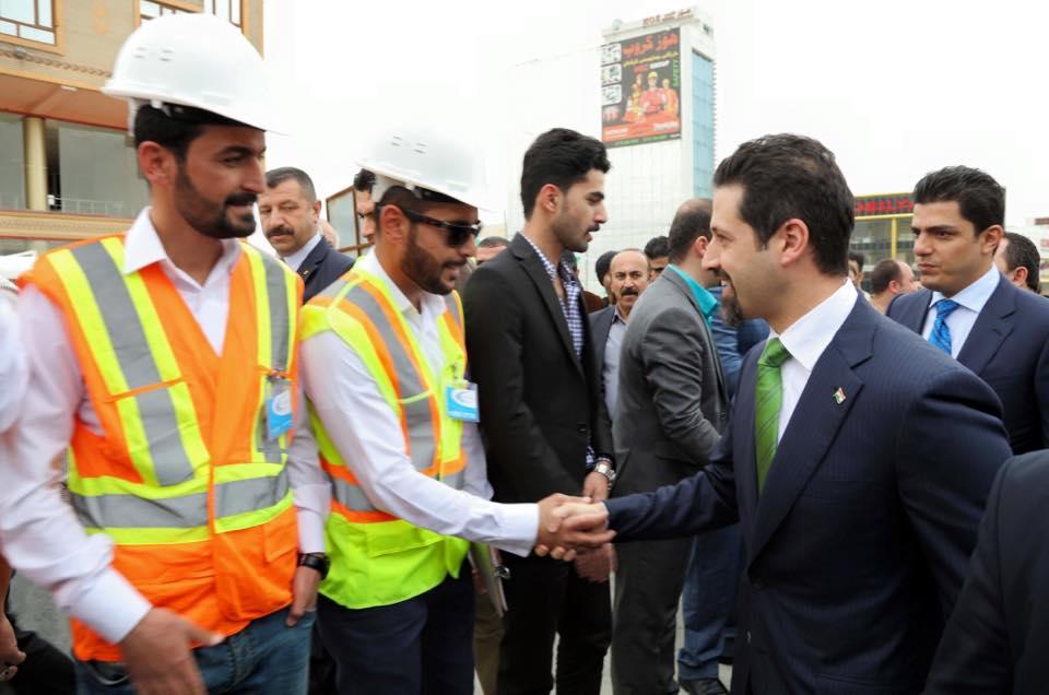 DPM Qubad Talabani Opened Kobane Bridge
