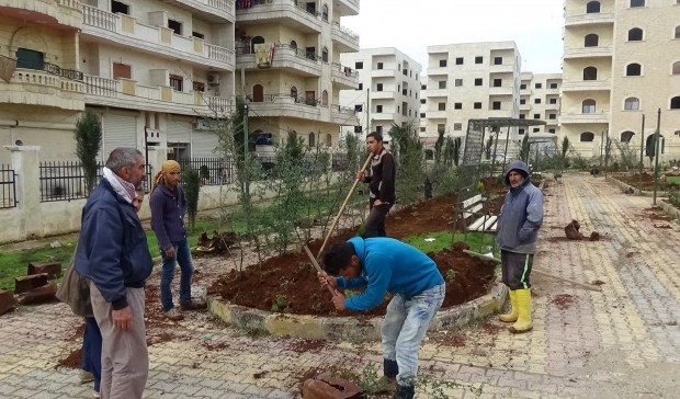 Afrin Adorns herself with 5,000 saplings