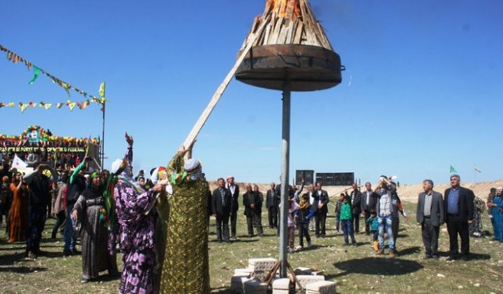 Federal Rojava Lights Fire of Newroz