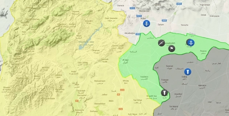 Clashes between YPG/Jaysh al-Thuwar and SNC gangs in Tal Rifat