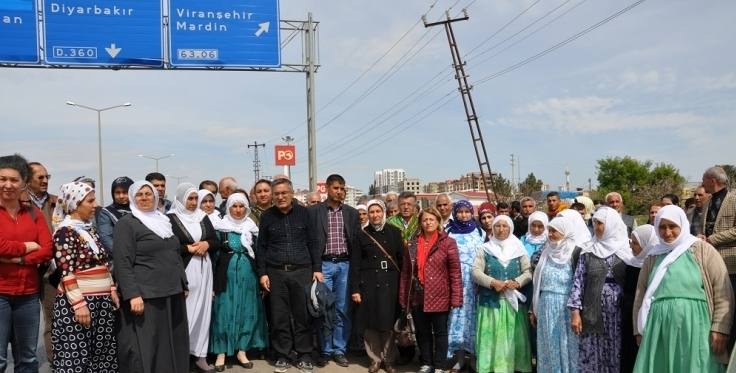People marching to Amara detained in Siverek