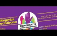 HDP organises rally on June 5 for democracy against the coup