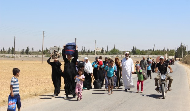 Release 123 civilians from the city of Manbij