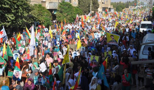 Tens of thousands call for Ocalan freedom