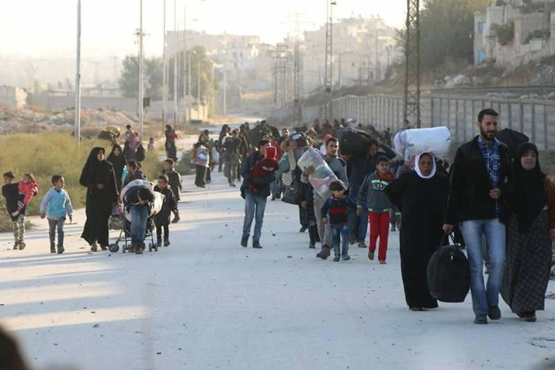 Photos and Video of civilians escaping the Assad Regime Forces